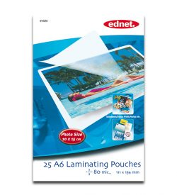 A6 laminating pouches 80 mic, 25 pcs | Laminating | SiliconBlue Corporation Ltd.