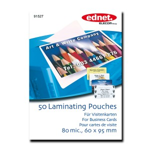 Laminating pouches for business cards 80 mic, 50 pcs | Laminating | SiliconBlue Corporation Ltd.