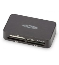 MULTI CARD READER USB 2.0, All in one Data transfer speed 480 Mbps