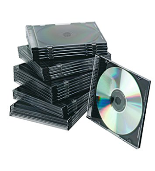 25 Slim Cases Black 5.2 mm | CD Cases | SiliconBlue Corporation Ltd.