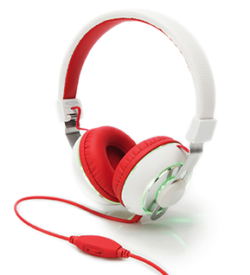 BeatLight Headphone, color switch button, white