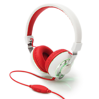 HeadBang headphone, red/white | Headsets | SiliconBlue Corporation Ltd.