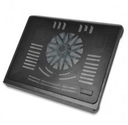 "Notebook Cooling Stand for up to 17.3"", 140 mm fan height adjustable, black 