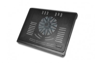 """Notebook Cooling Stand for up to 17.3"""", 140 mm fan height adjustable, black"""