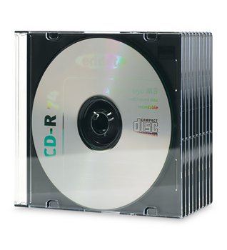 CD SLIM CASE 5 mm, black Tray, transparent Cover 10 Pcs/Package