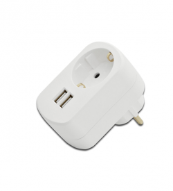 USB Charger 3.1A, 2x USB port, Socket transit