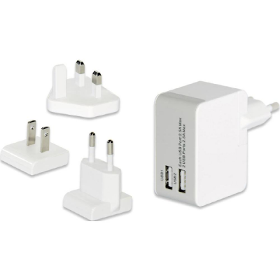 Universal USB Travel Charger Adapter Set