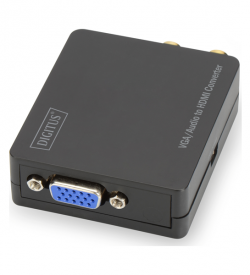 Video Converter VGA/Audio to HDMI, Video resolutions up to 1920x1080 pixel (Full HD), small housing, black