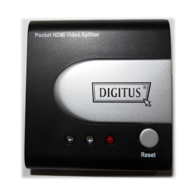 DIGITUS HDMI Pocket Video Splitter 2-Port, 25-225Mhz, resolution up to 1080p w/o power supply