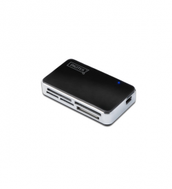 DIGITUS Card Reader USB 2.0, black, all-in-one